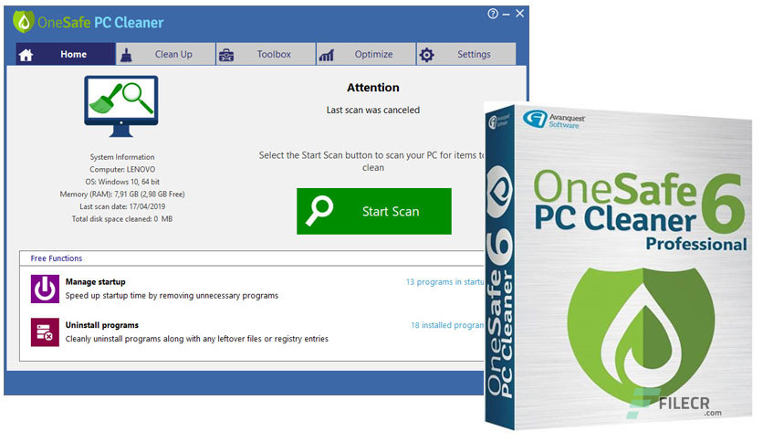 OneSafe PC Cleaner Pro